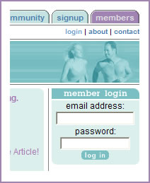 Members of the weight loss system must log into the system to keep their information private.